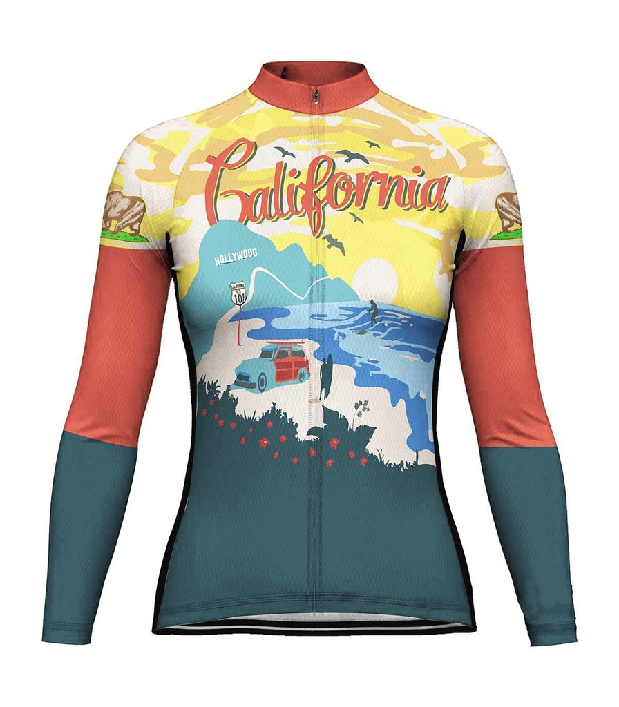 California Long Sleeve Cycling Jersey for Women
