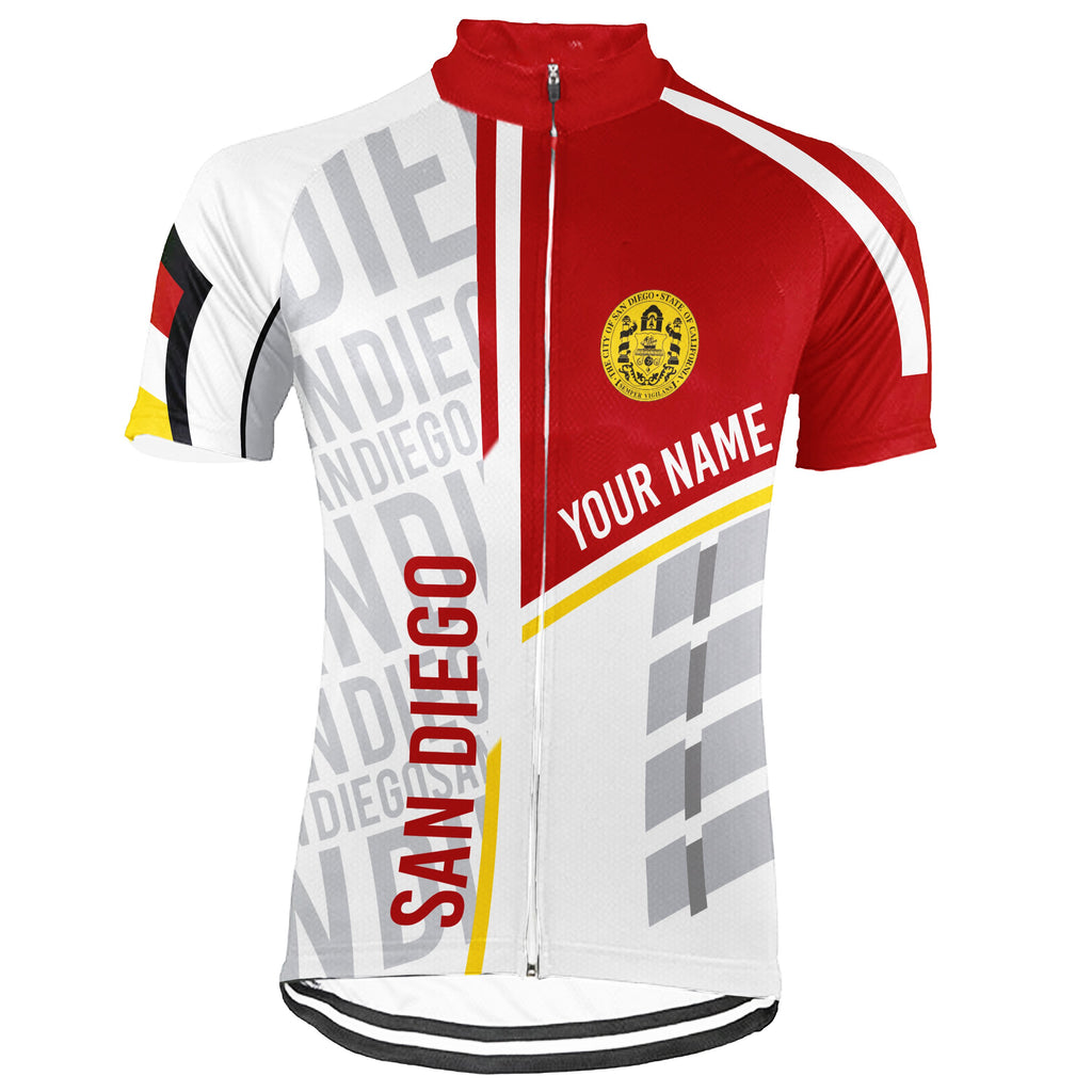 Customized San Diego Short Sleeve Cycling Jersey for Men