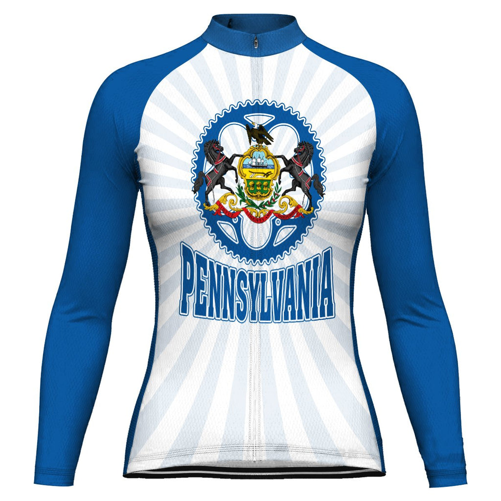 Customized Pennsylvania Winter Thermal Fleece Long Sleeve For Women