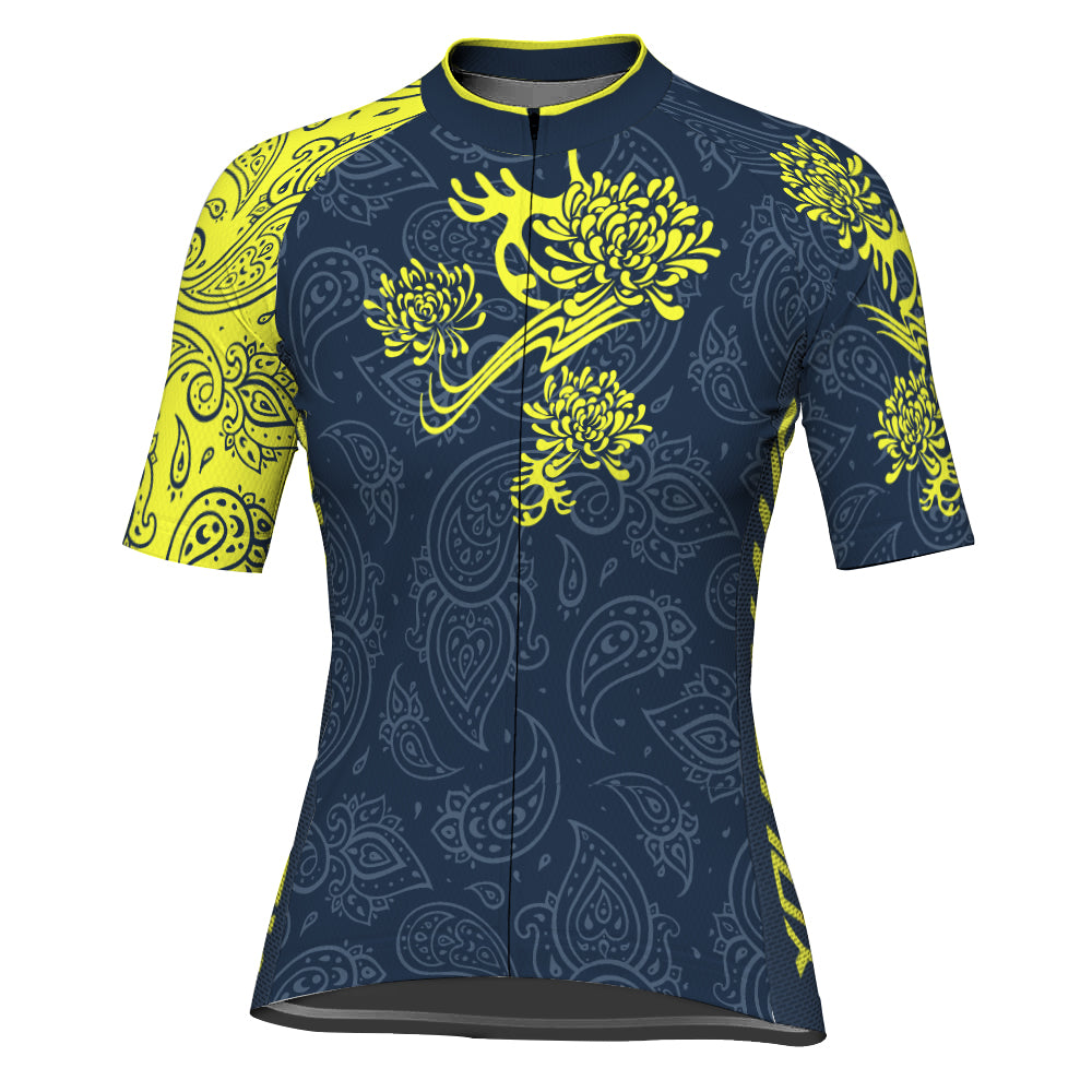 Customized Divine Hana Short Sleeve Cycling Jersey for Women