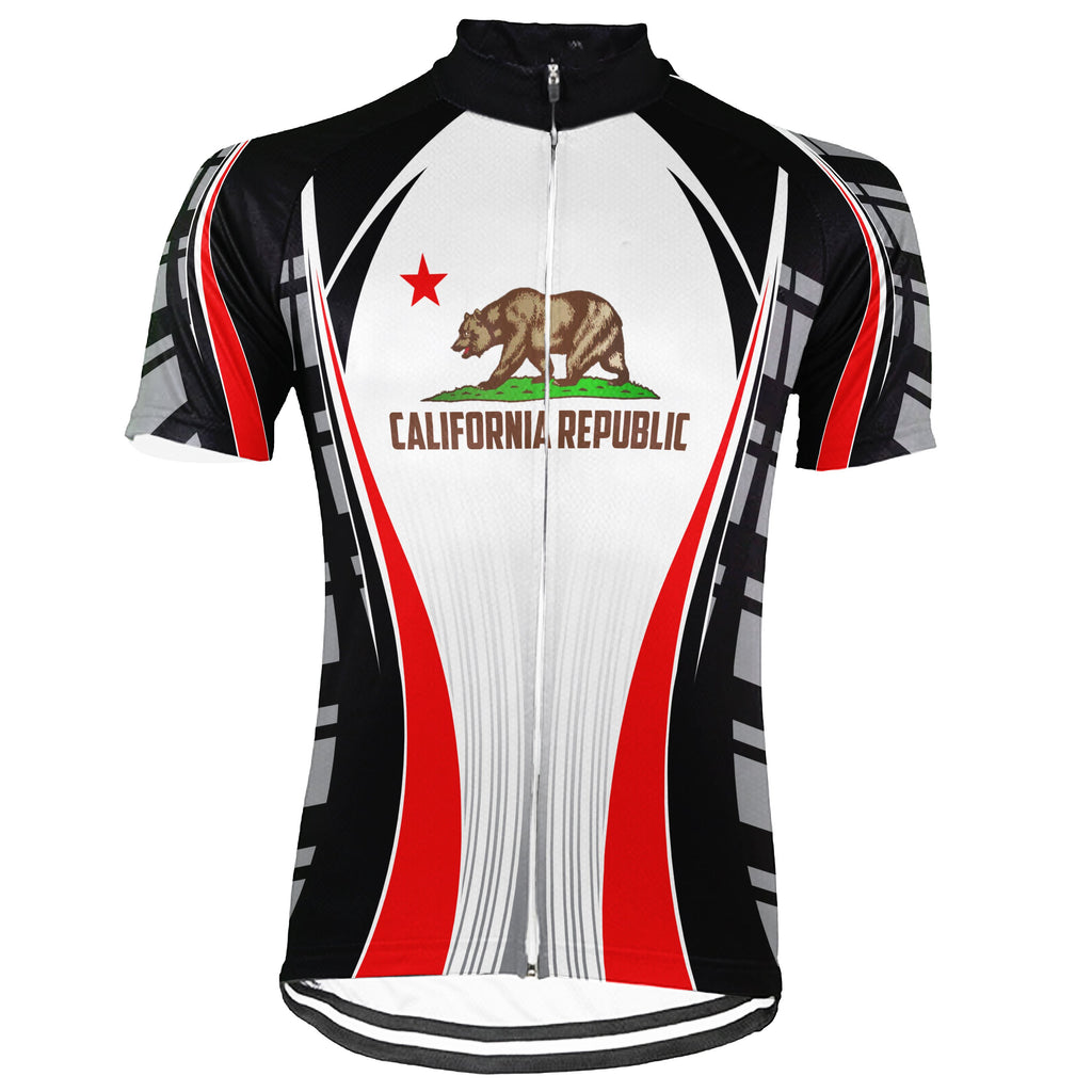 California Short Sleeve Cycling Jersey for Men