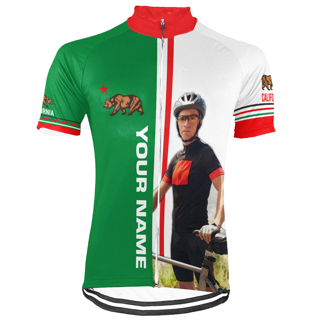 Customized Image California Short Sleeve Cycling Jersey for Men