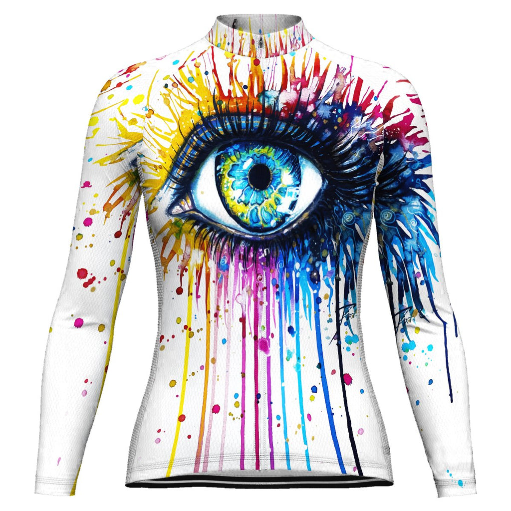 Colorful Long Sleeve Cycling Jersey for Women