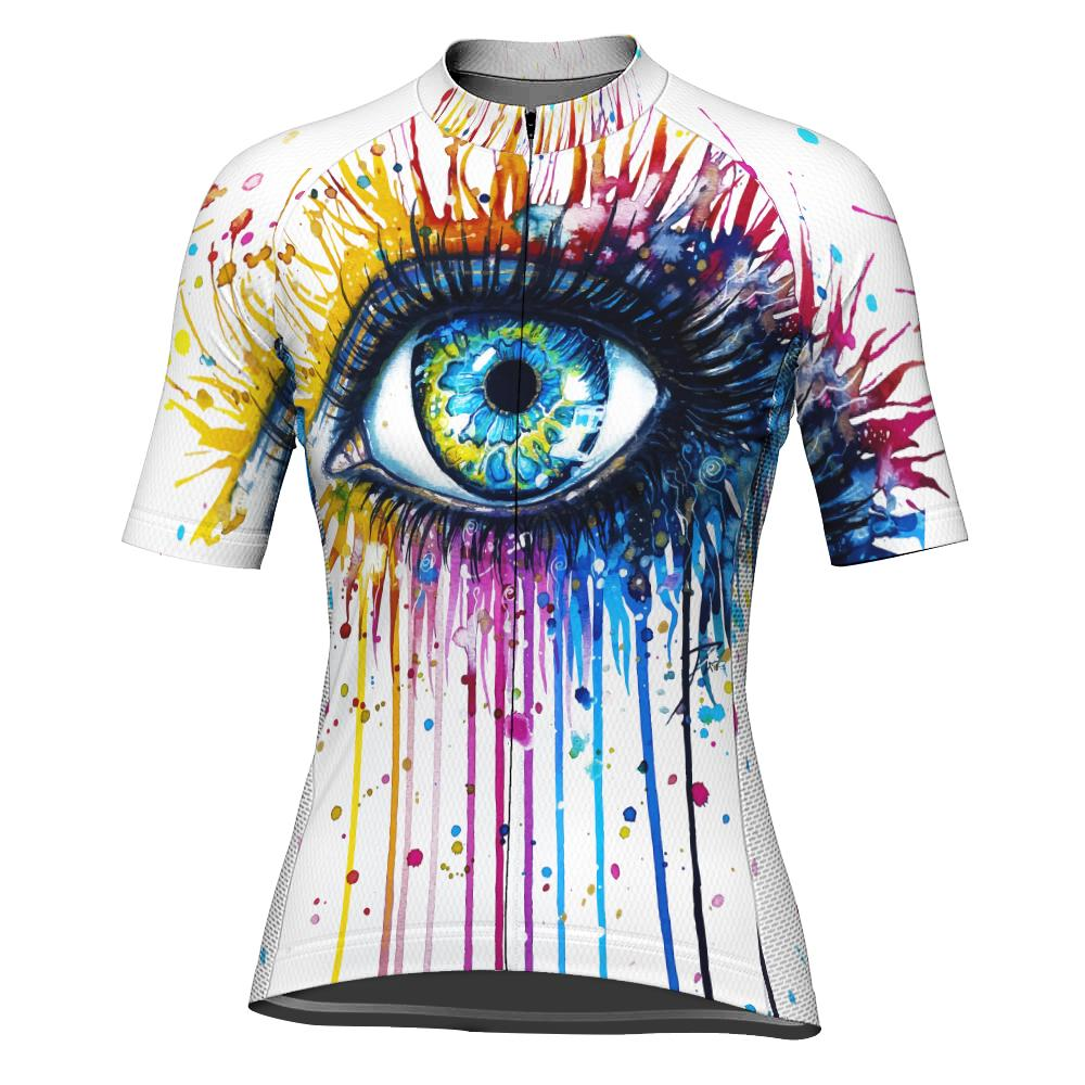 Colorful Short Sleeve Cycling Jersey for Women