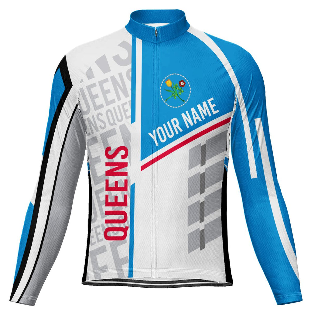 Customized Queens  Long Sleeve Cycling Jersey for Men