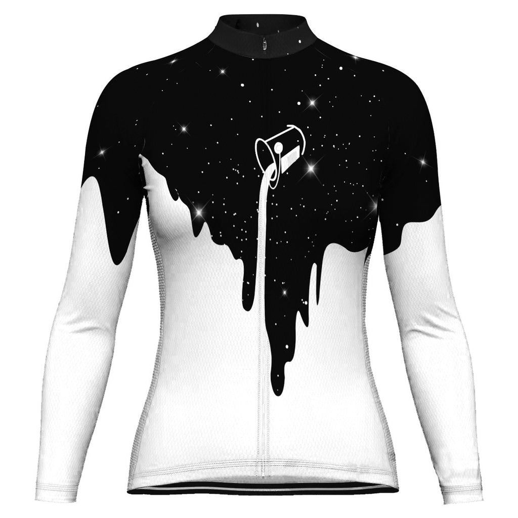 Galaxy Long Sleeve Cycling Jersey for Women