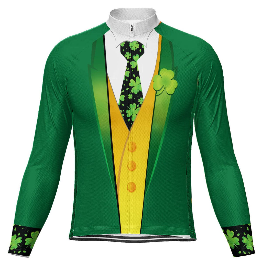 Customized Patrick's Day Long Sleeve Cycling Jersey for Men