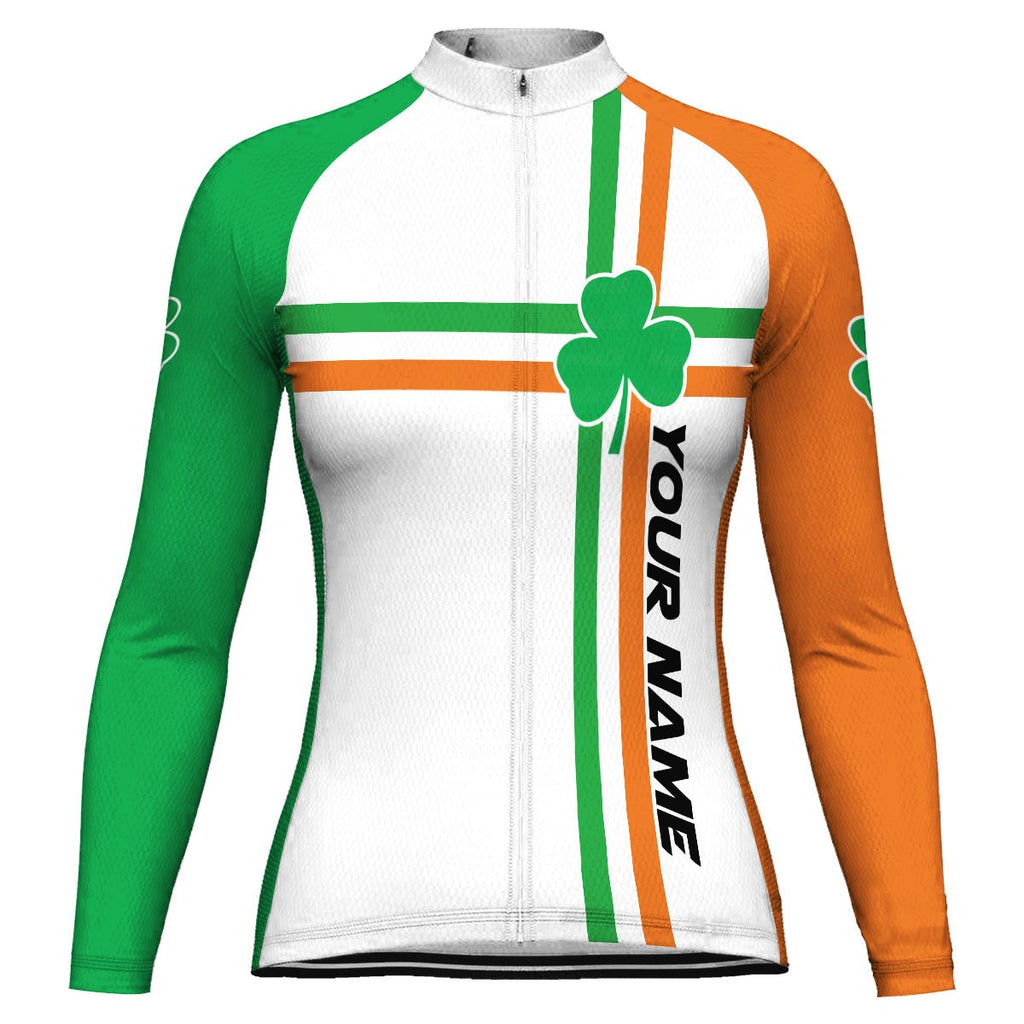 Customized Patrick's Day Long Sleeve Cycling Jersey for Women
