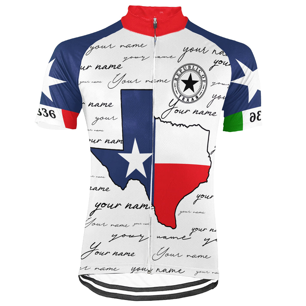 Customized Texas Short Sleeve Cycling Jersey for Men