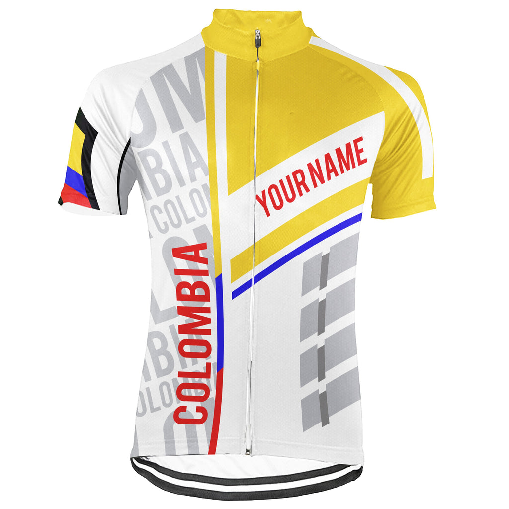Customized Colombia Short Sleeve Cycling Jersey for Men