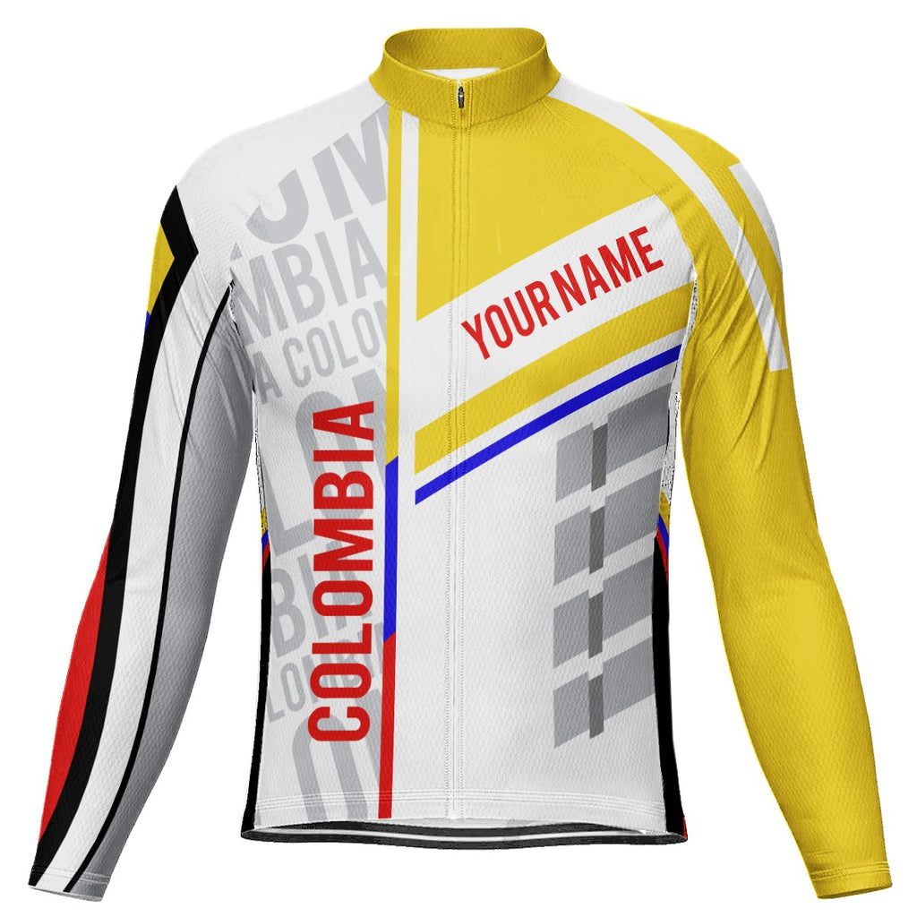 Customized Colombia Long Sleeve Cycling Jersey for Men