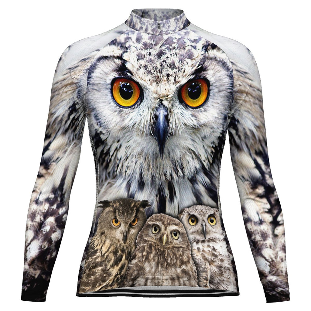 Customized Owl Long Sleeve Cycling Jersey for Women