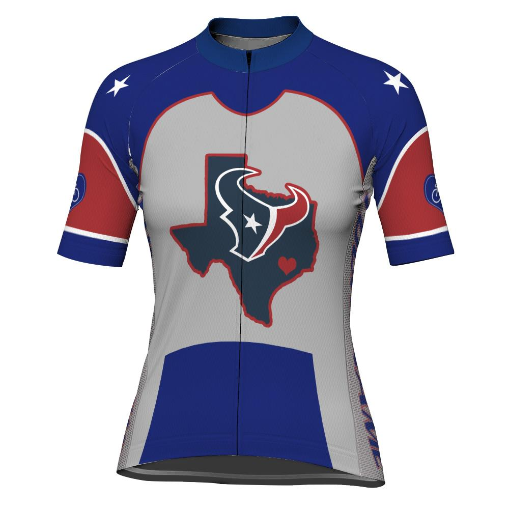 Customized Texas Short Sleeve Cycling Jersey for Women