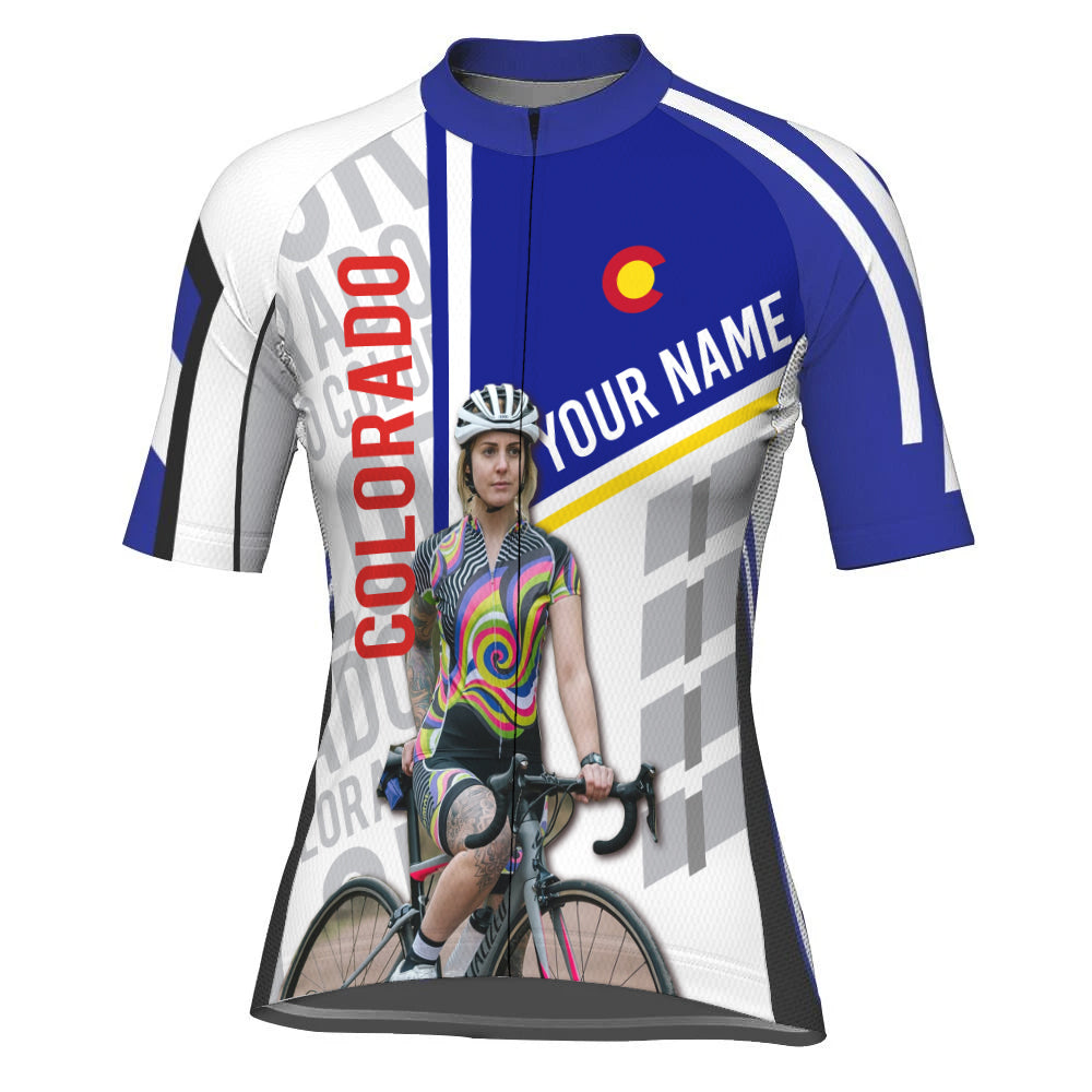Customized Image Colorado Short Sleeve Cycling Jersey for Women