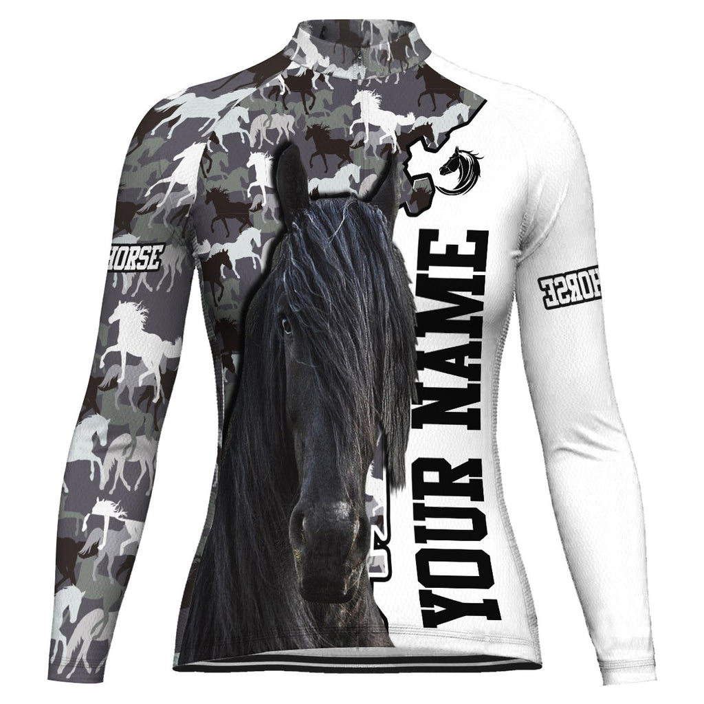 Customized Horse Long Sleeve Cycling Jersey for Women