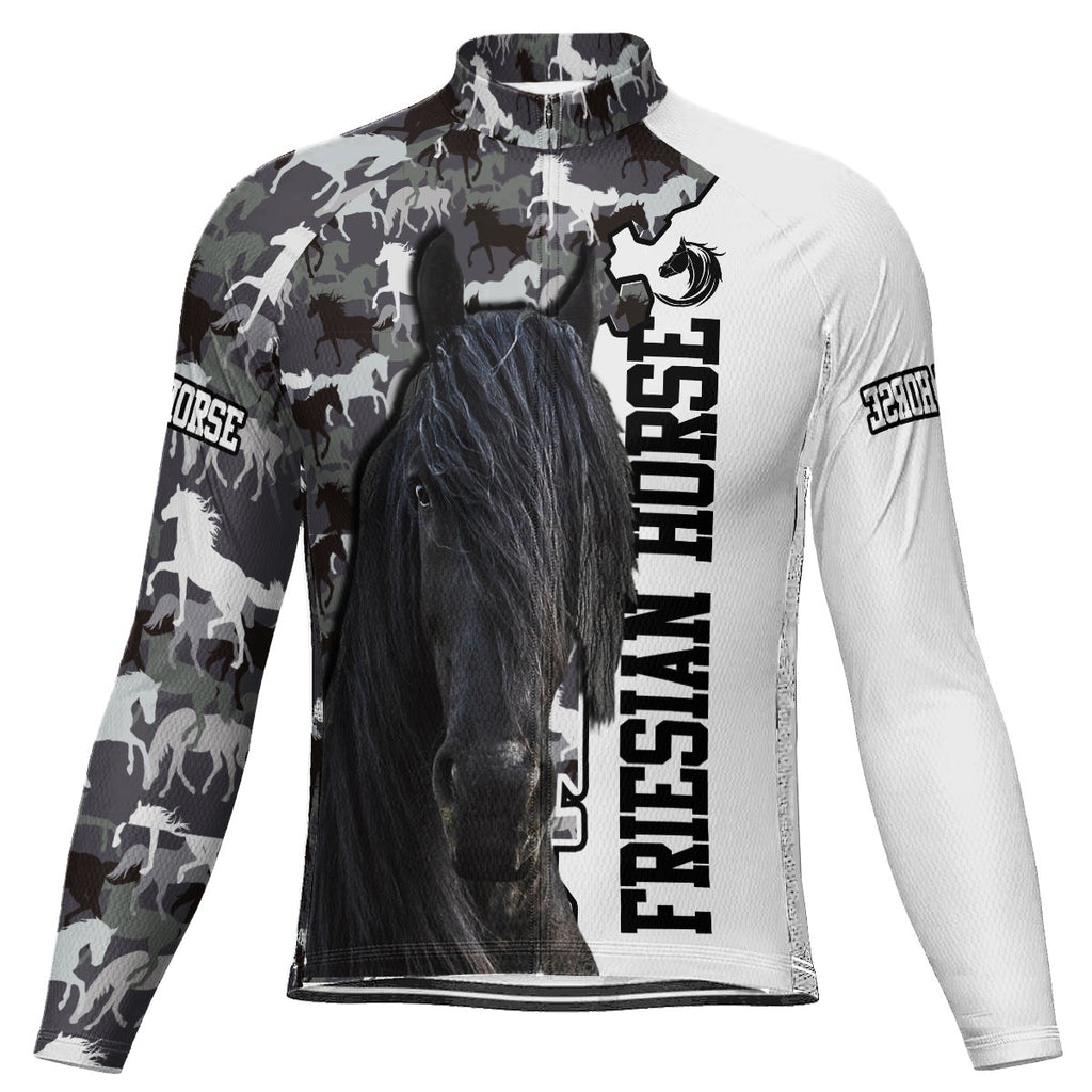 Horse Long Sleeve Cycling Jersey for Men