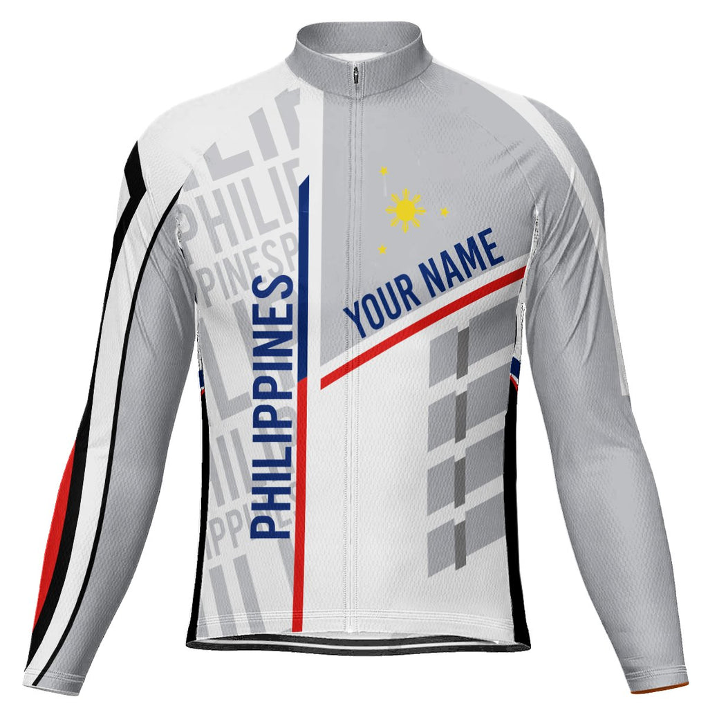 Customized Philipines Long Sleeve Cycling Jersey for Men