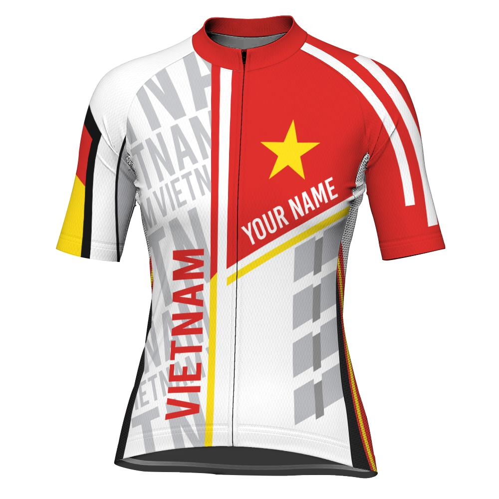 Customized Vietnam Short Sleeve Cycling Jersey for Women
