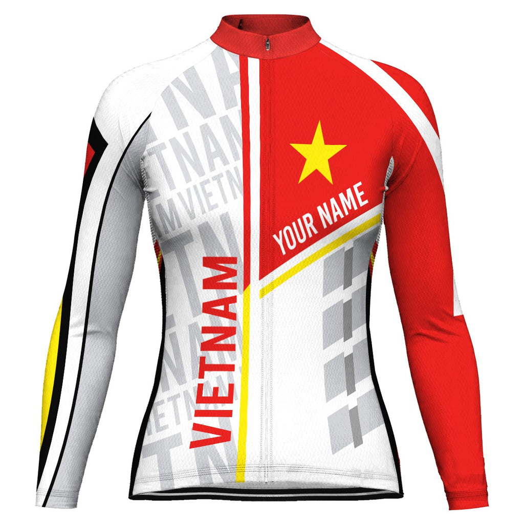 Customized Vietnam Long Sleeve Cycling Jersey for Women