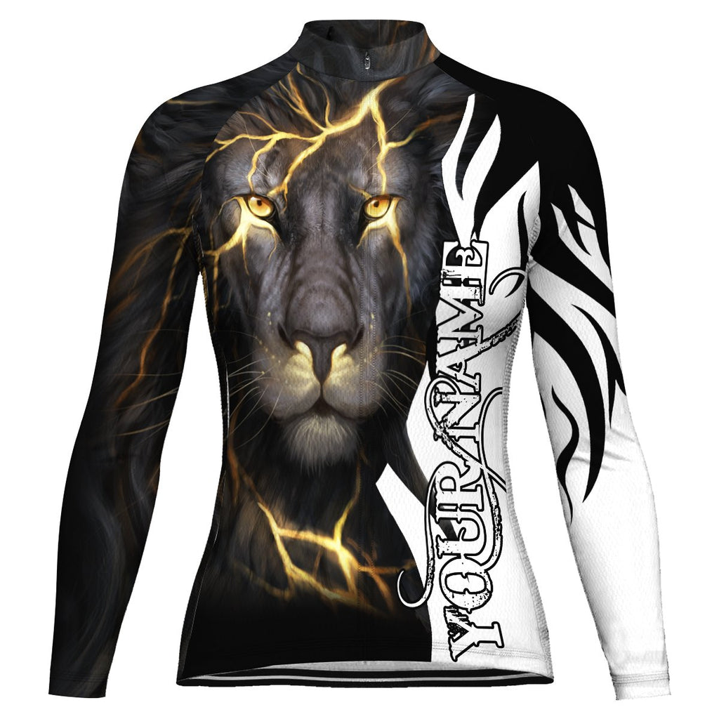 Customized Lion Long Sleeve Cycling Jersey for Women