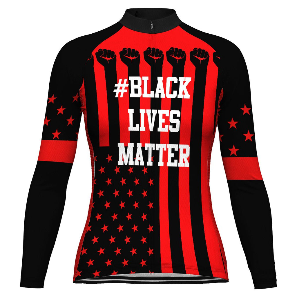Customized Black Lives Matter Long Sleeve Cycling Jersey for Women