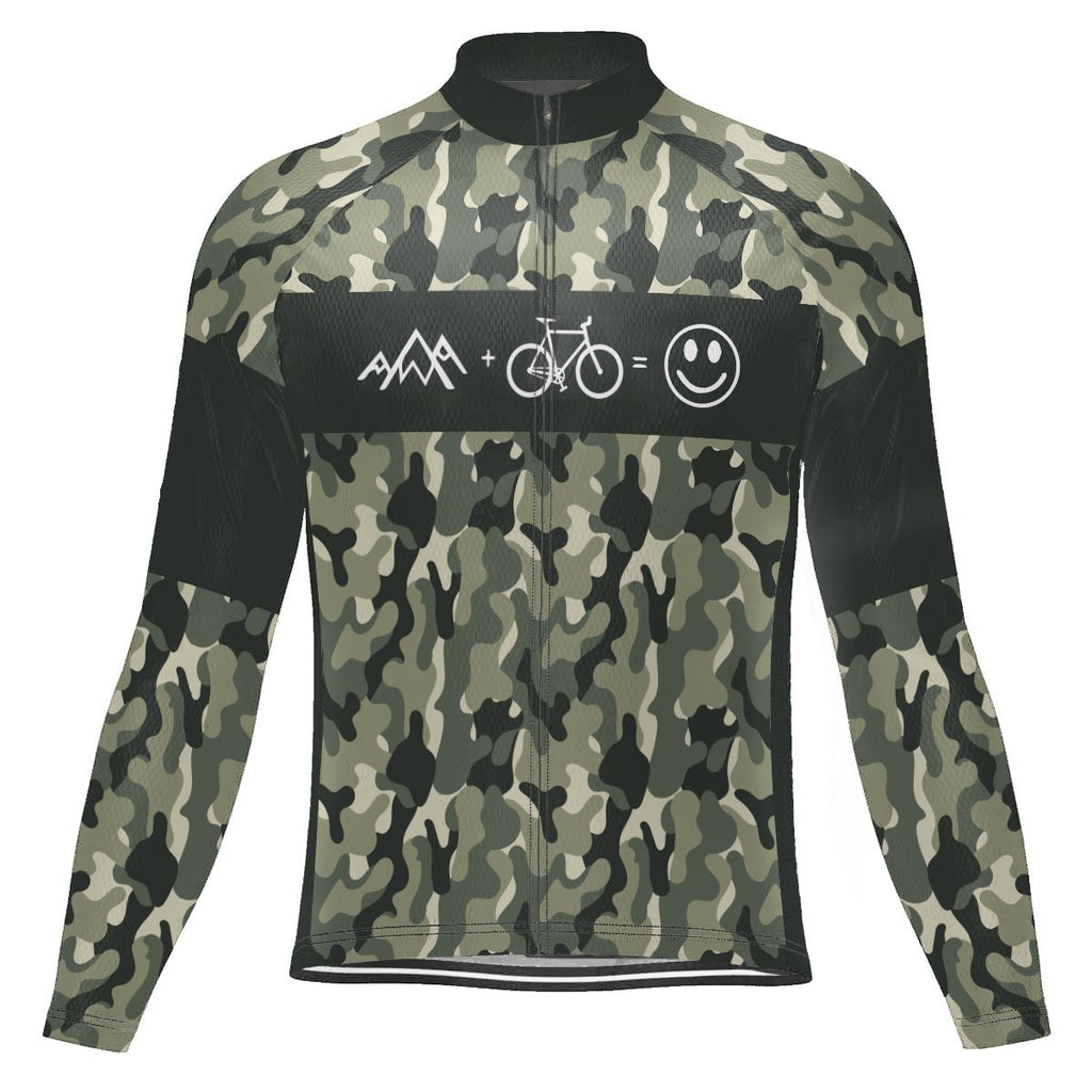 Camo Long Sleeve Cycling Jersey for Men