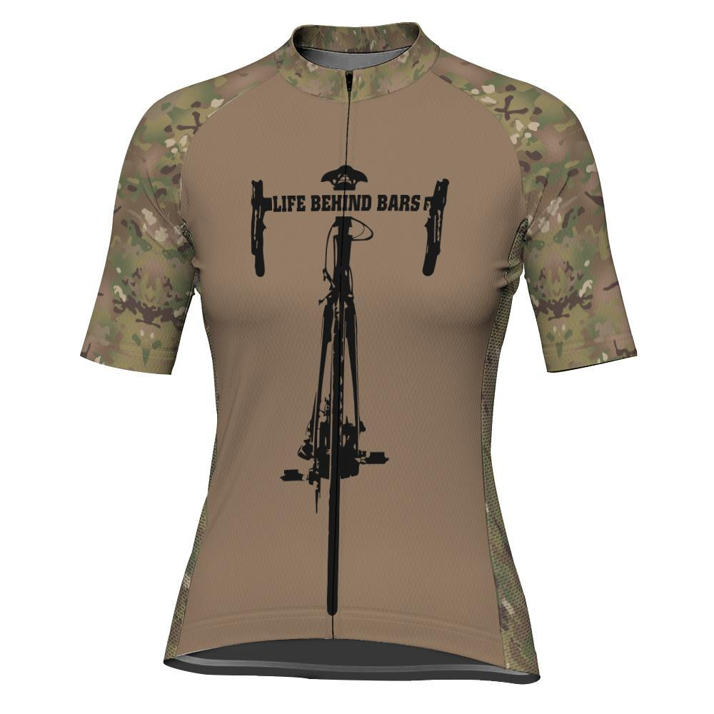 Camo Short Sleeve Cycling Jersey for Women