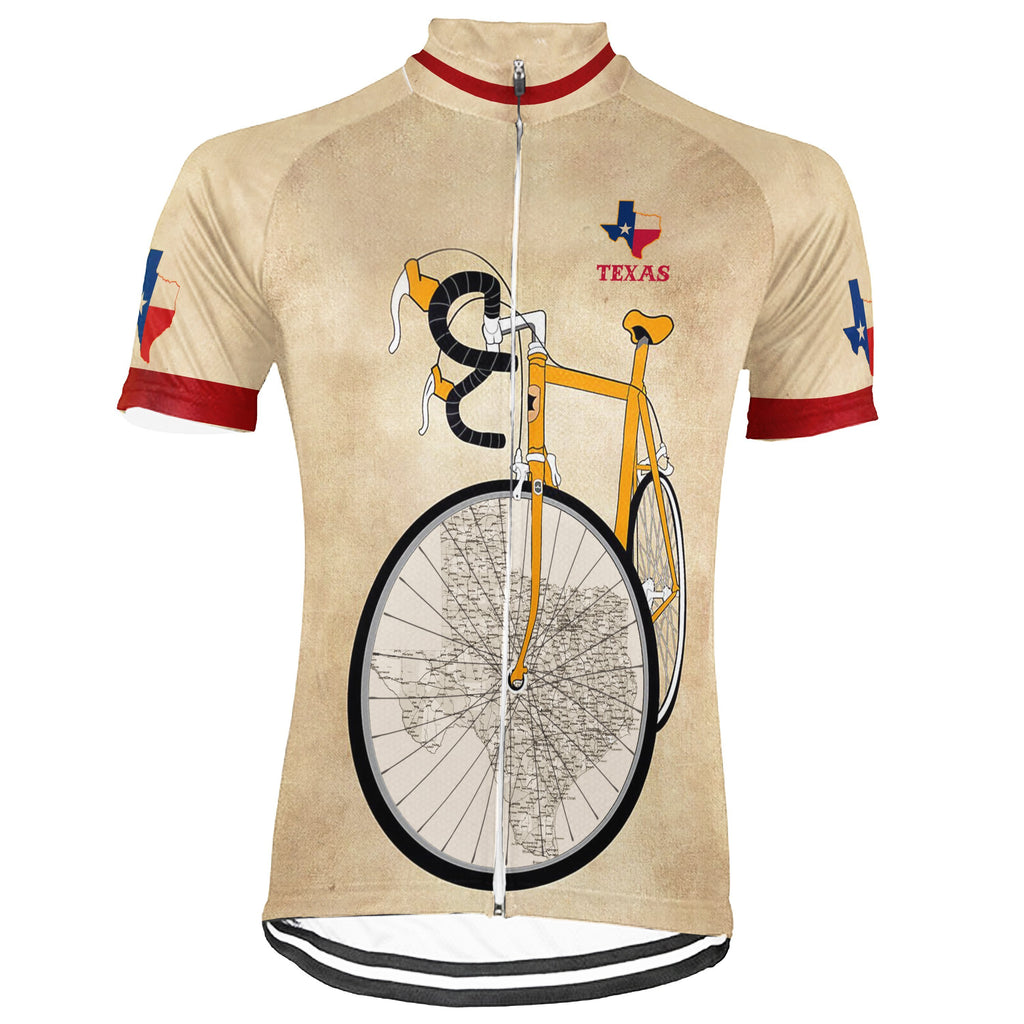 Awesome Texas Short Sleeve Cycling Jersey for Men
