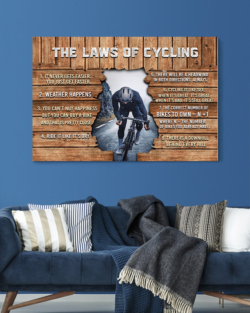Customized Image Canvas- The Laws Of Cycling