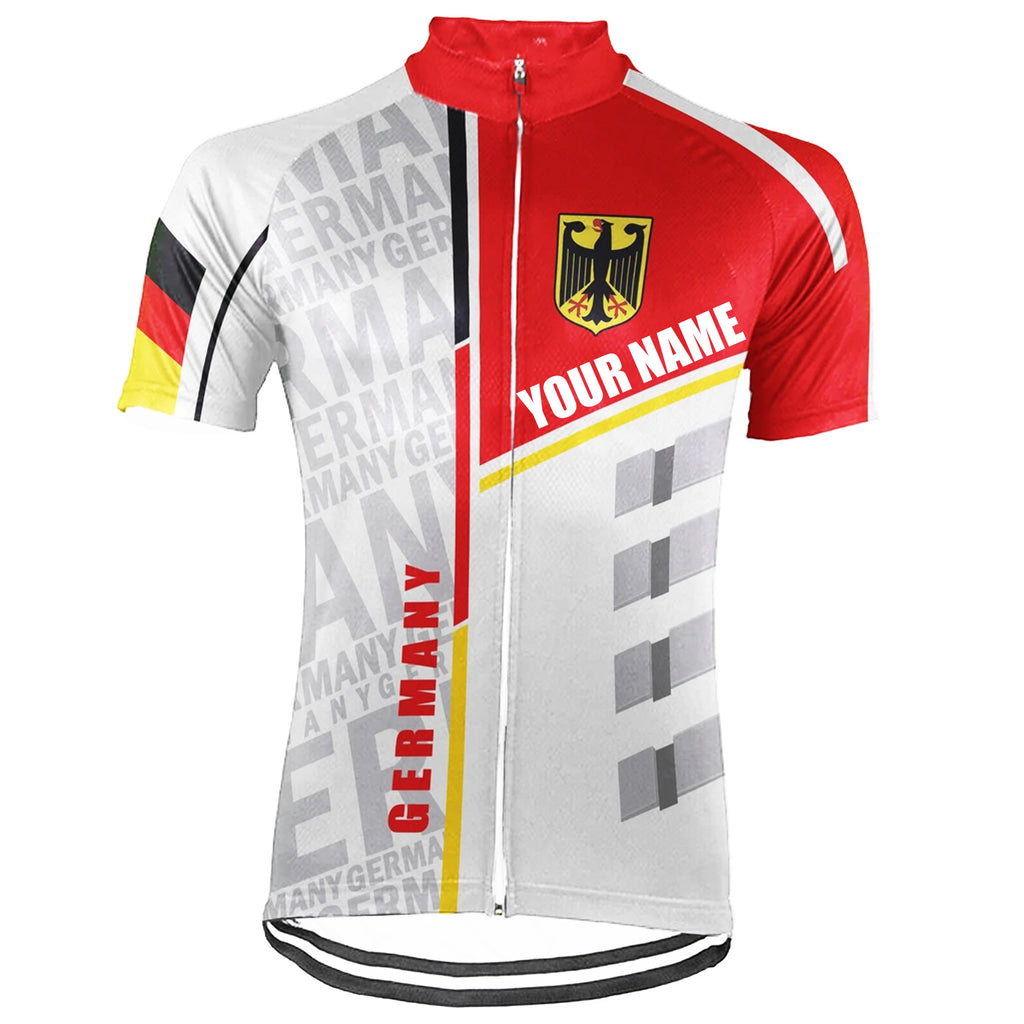 Customized Germany Short Sleeve Cycling Jersey for Men