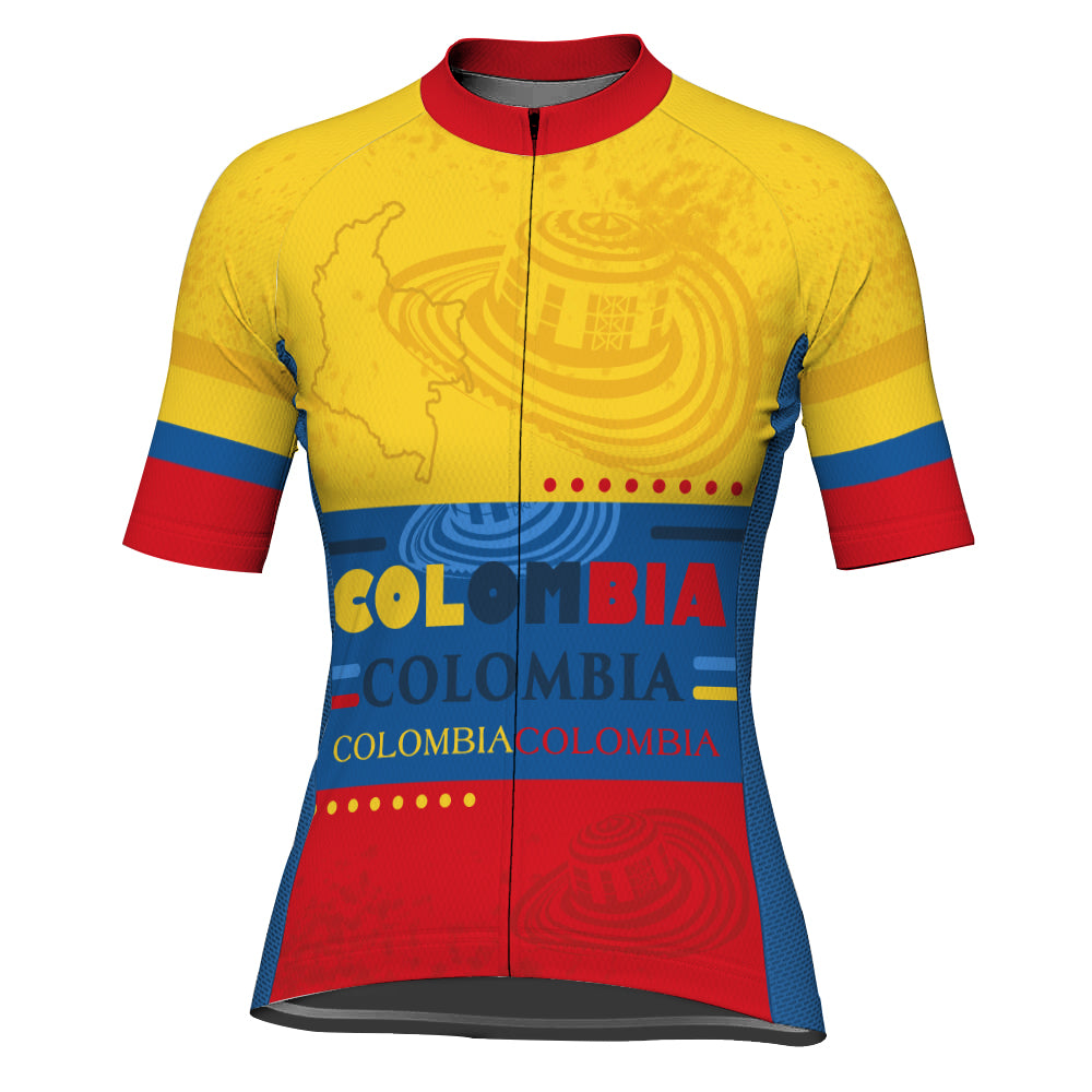Customized Colombian Short Sleeve Cycling Jersey for Women