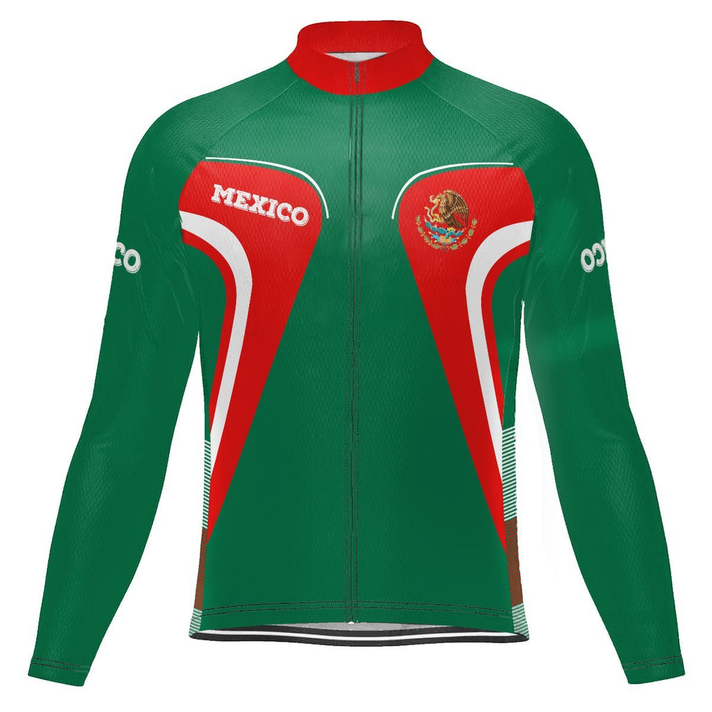 Mexico Long Sleeve Cycling Jersey for Men