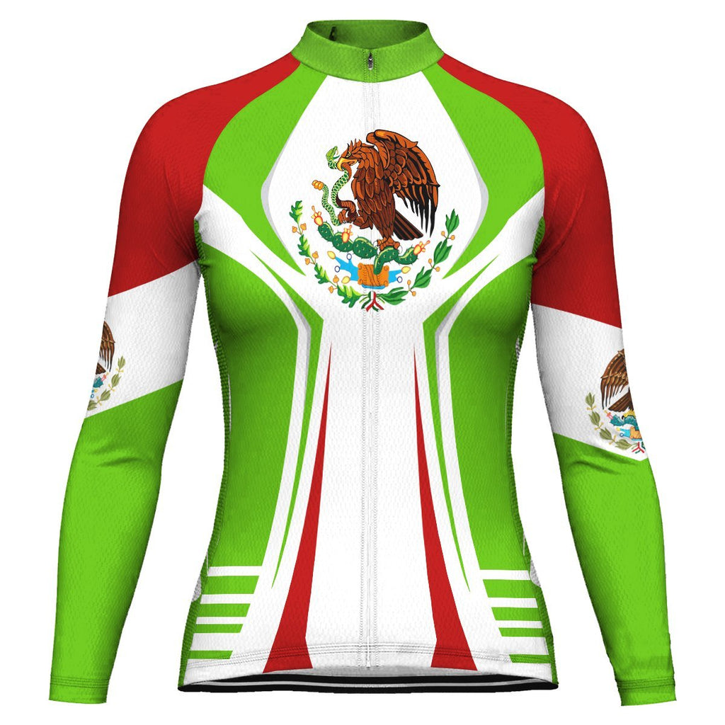 Mexico Long Sleeve Cycling Jersey for Women