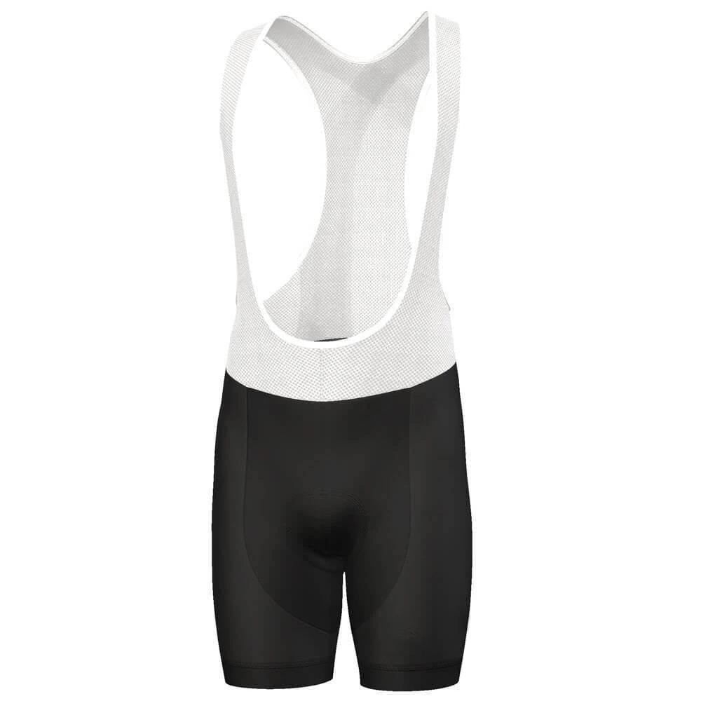 Black Cycling Bib Shorts for Men
