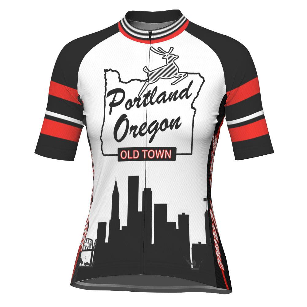 Customized Oregon Short Sleeve Cycling Jersey for Women
