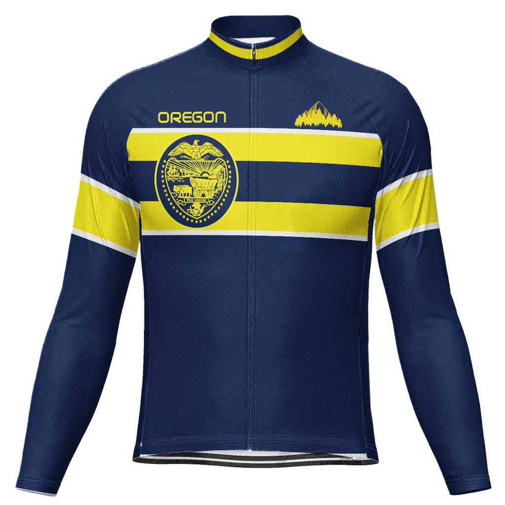 Customized Oregon Long Sleeve Cycling Jersey for Men