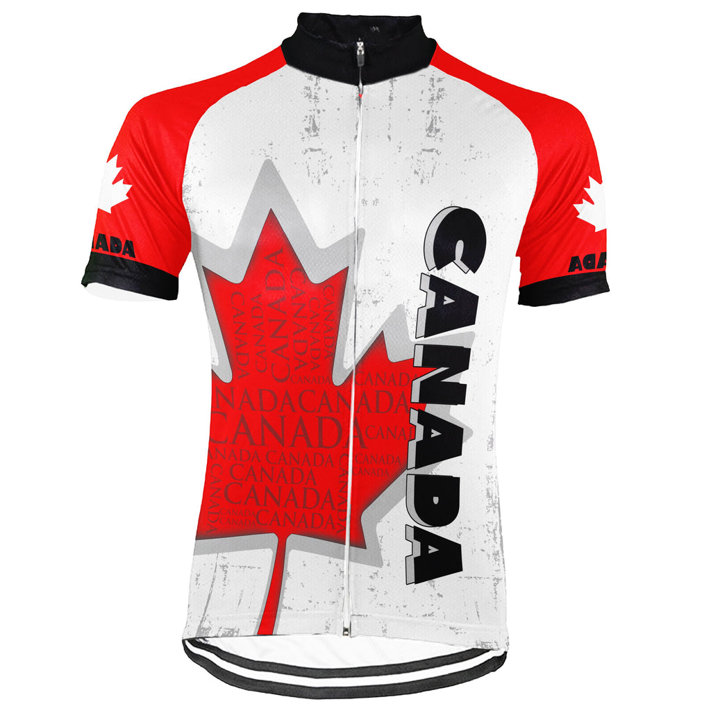 Canada Short Sleeve Cycling Jersey for Men