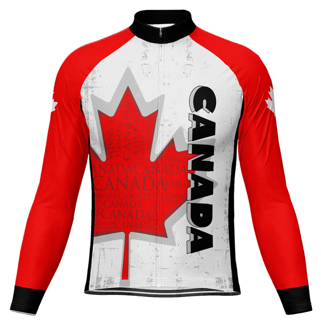 Canada Long Sleeve Cycling Jersey for Men