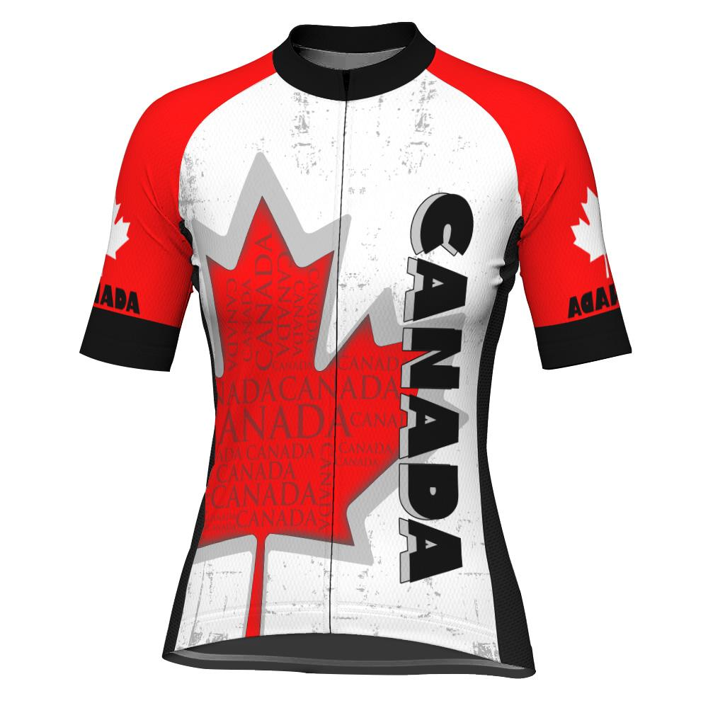 Canada Short Sleeve Cycling Jersey for Women