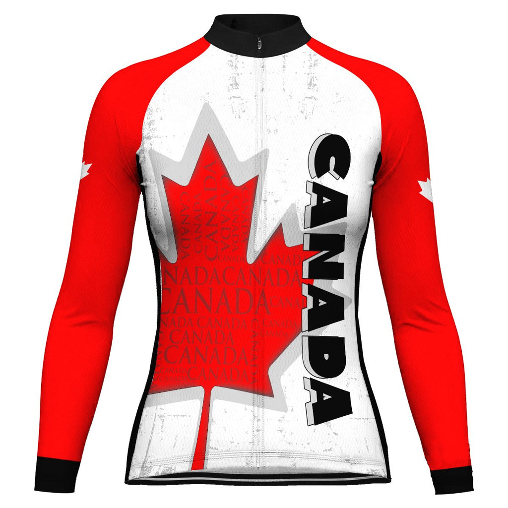 Customized Canada Long Sleeve Cycling Jersey for Women