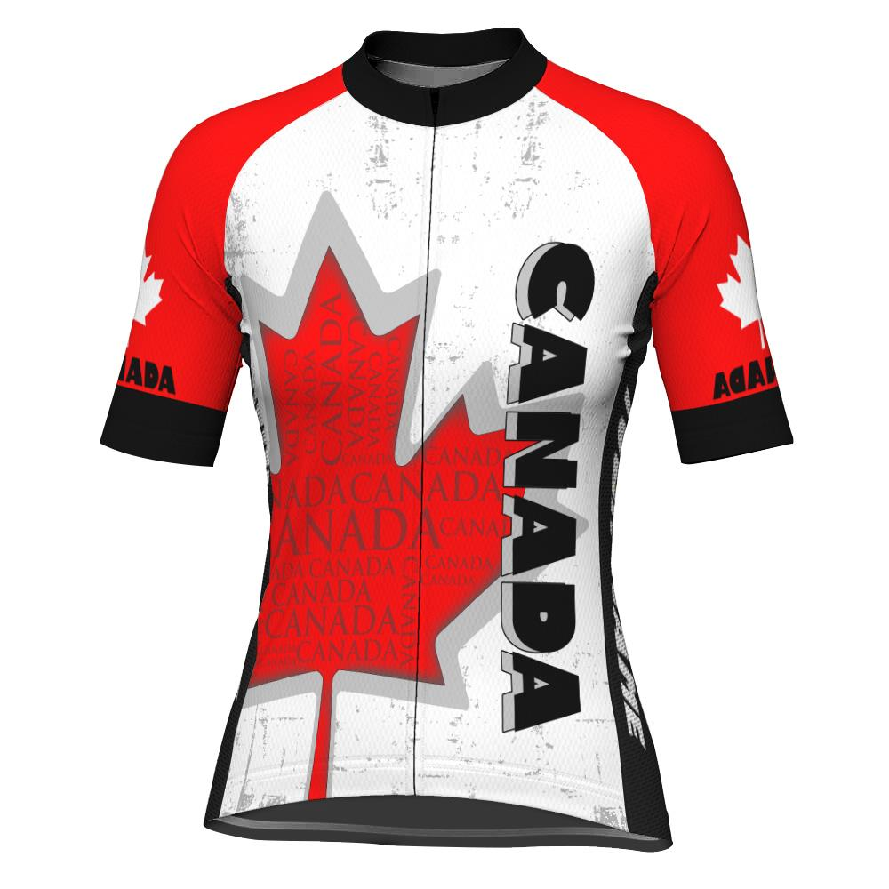 Customized Canada Short Sleeve Cycling Jersey for Women