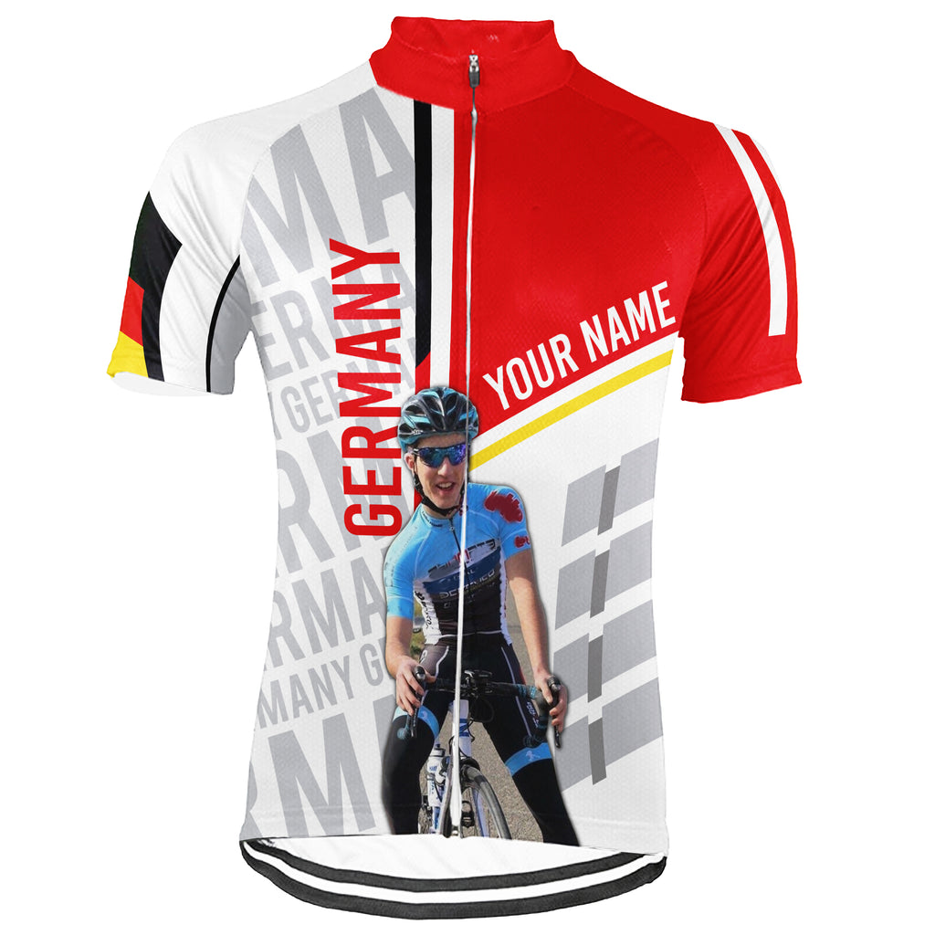 Customized Image Germany Short Sleeve Cycling Jersey for Men