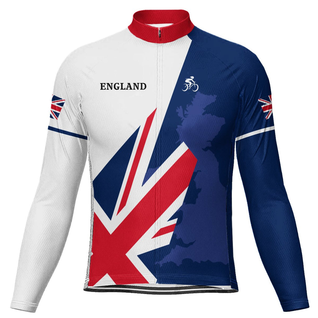 England Long Sleeve Cycling Jersey for Men