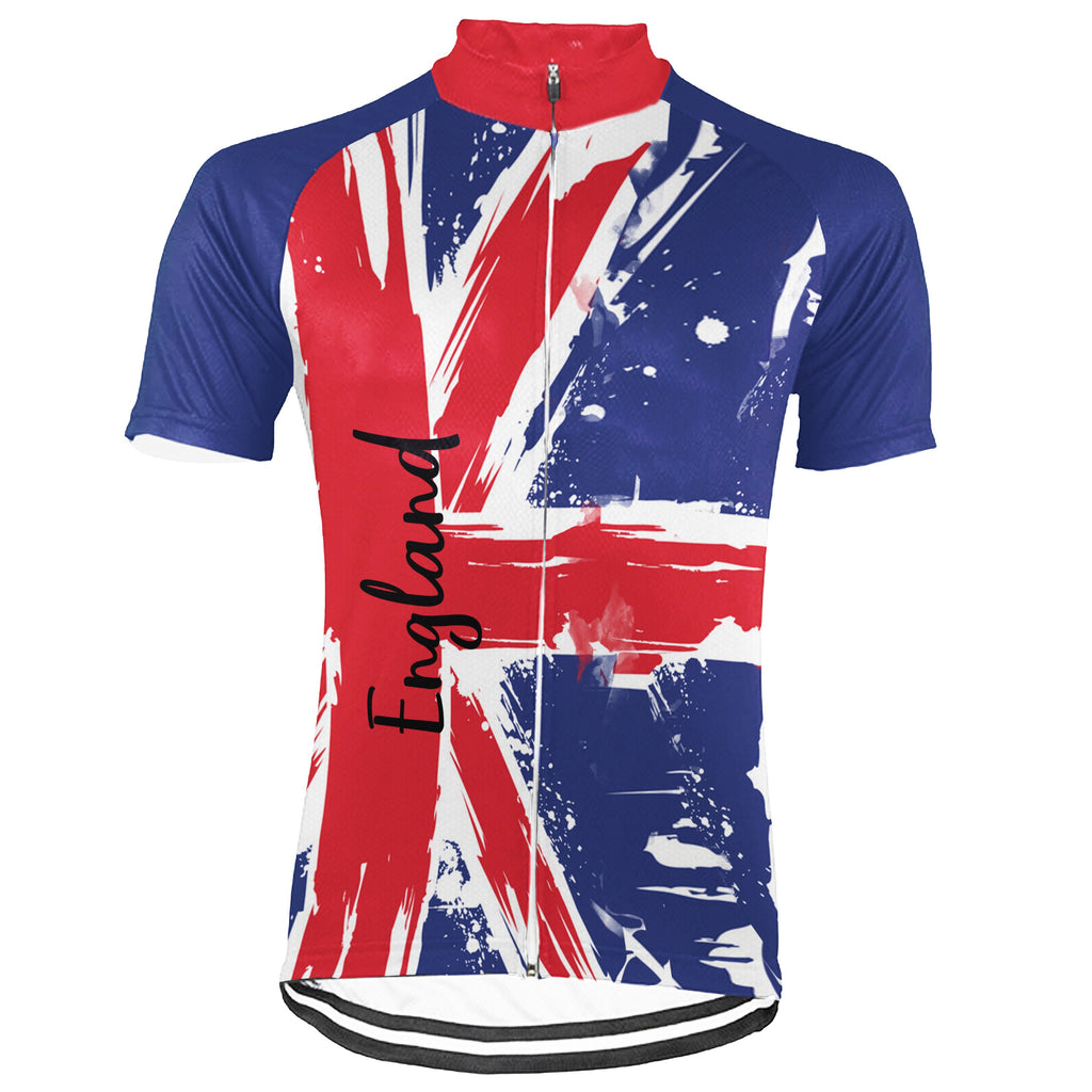 England Short Sleeve Cycling Jersey for Men