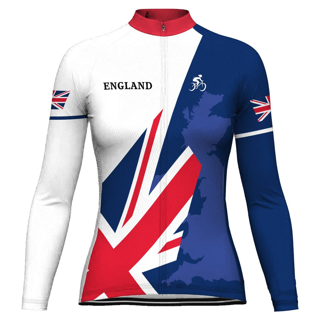 England Long Sleeve Cycling Jersey for Women