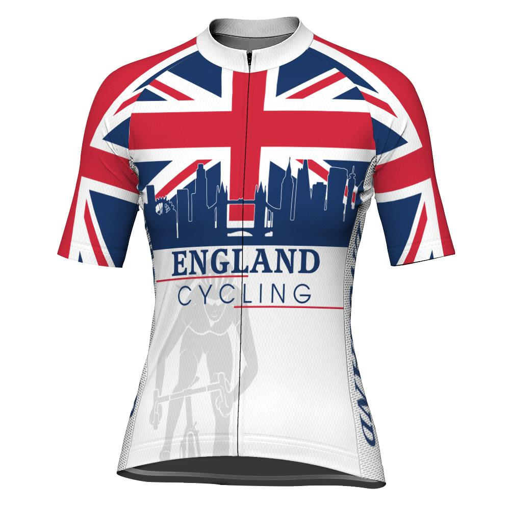 England Short Sleeve Cycling Jersey for Women