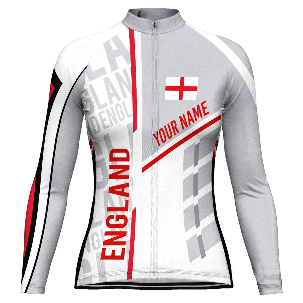 Customized England Long Sleeve Cycling Jersey for Women