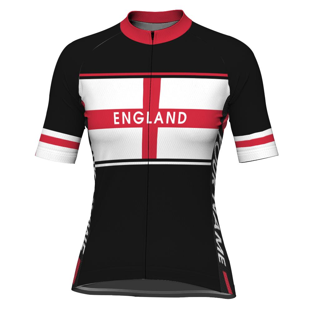 Customized England Short Sleeve Cycling Jersey for Women