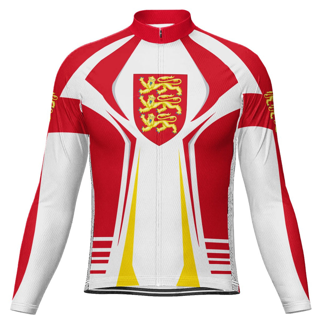 Customized England Long Sleeve Cycling Jersey for Men