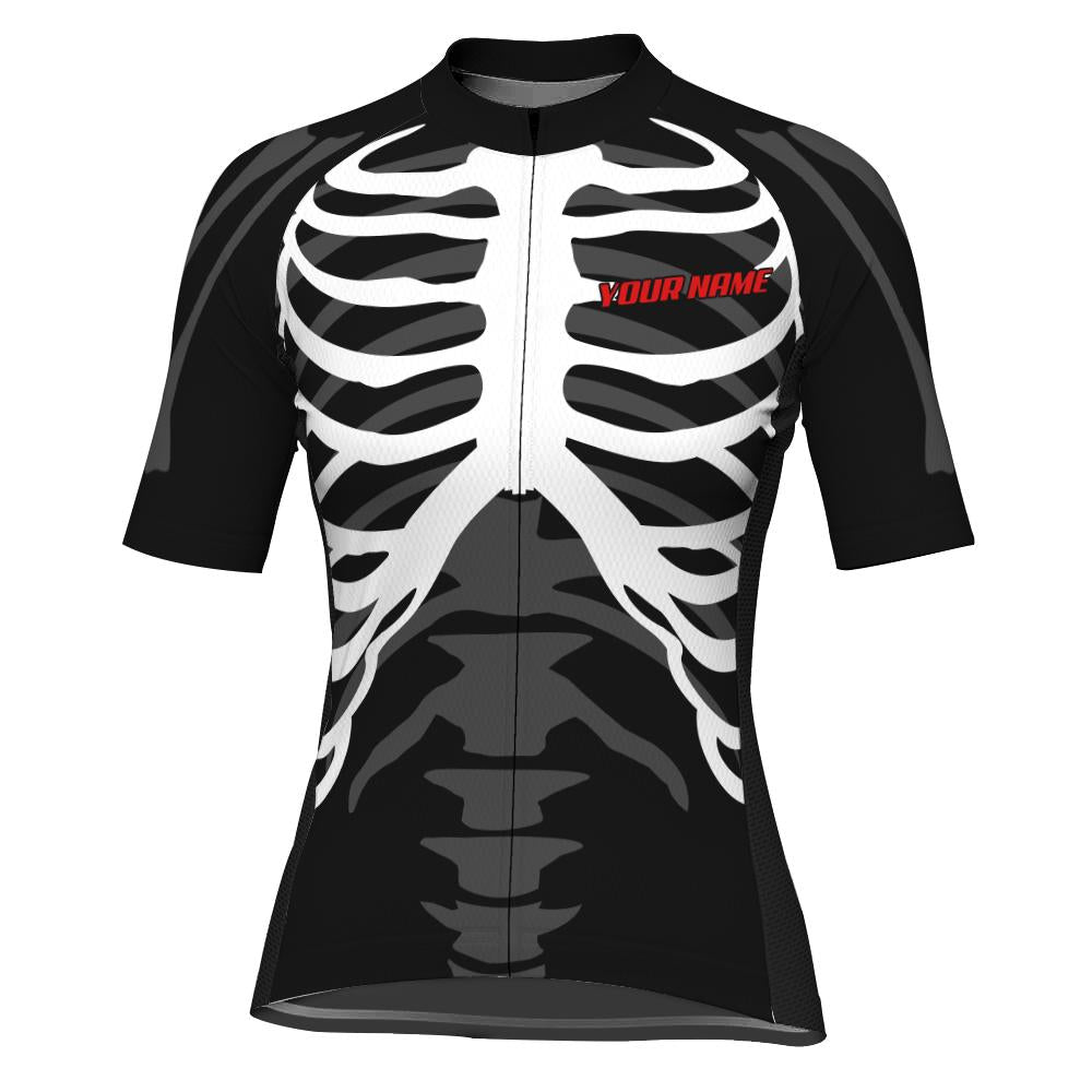 Customized Skull Short Sleeve Cycling Jersey for Women